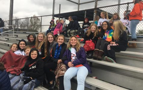Middle School Students Attending 'Red Ribbon Week' Football Game
